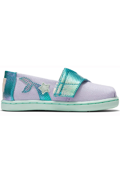 TOMS Tiny Lavender Blue Canvas Iridescent Snake - Product List Image