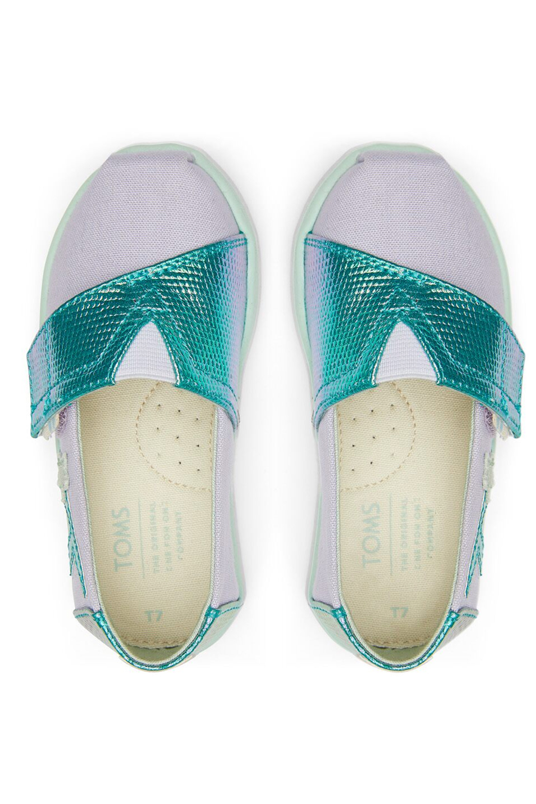 TOMS Tiny Lavender Blue Canvas Iridescent Snake - Side Cropped Image
