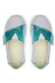 TOMS Tiny Lavender Blue Canvas Iridescent Snake - Side cropped