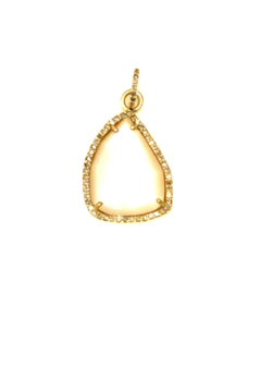 The Woods Fine Jewelry  Tiny Mother of Pearl and Brass Pendant - Alternate List Image