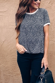 Lyn -Maree's Tiny Paisley Print Tee - Front cropped