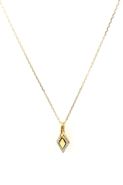 Shoptiques Product: Tiny-Pave-Diamond Dog-Tag Necklace