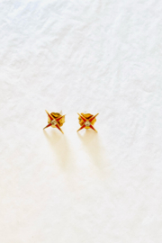 The Woods Fine Jewelry  Tiny Star Earrings - Product Mini Image