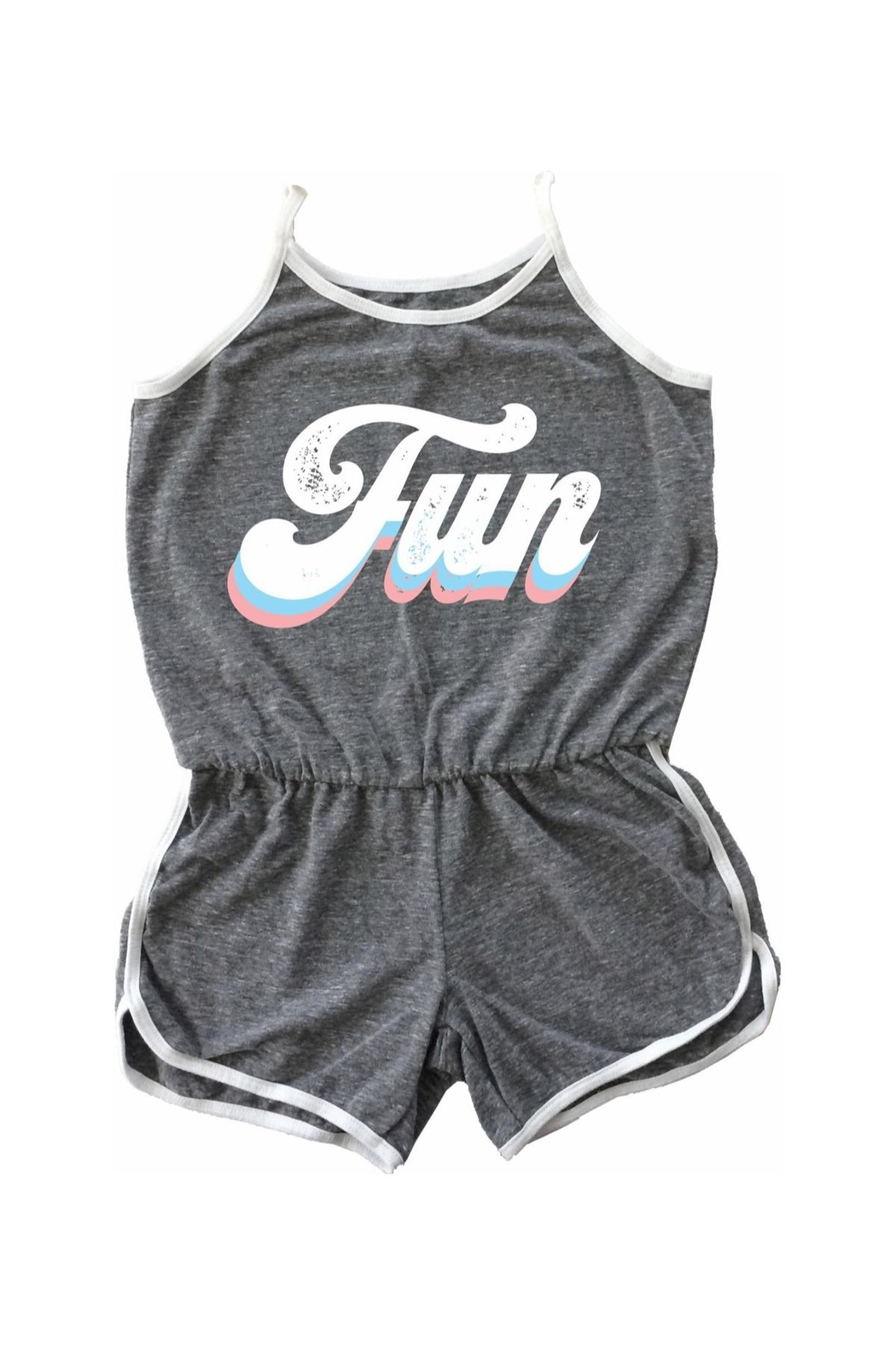 TINY WHALES Fun Rollergirl Romper - Main Image