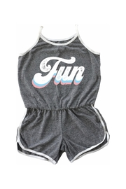 TINY WHALES Fun Rollergirl Romper - Front cropped