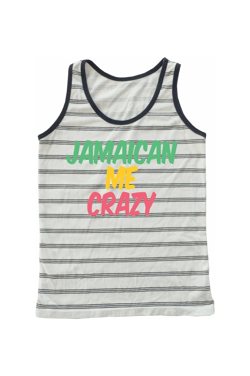 TINY WHALES Jamaican Me Tank - Front Cropped Image