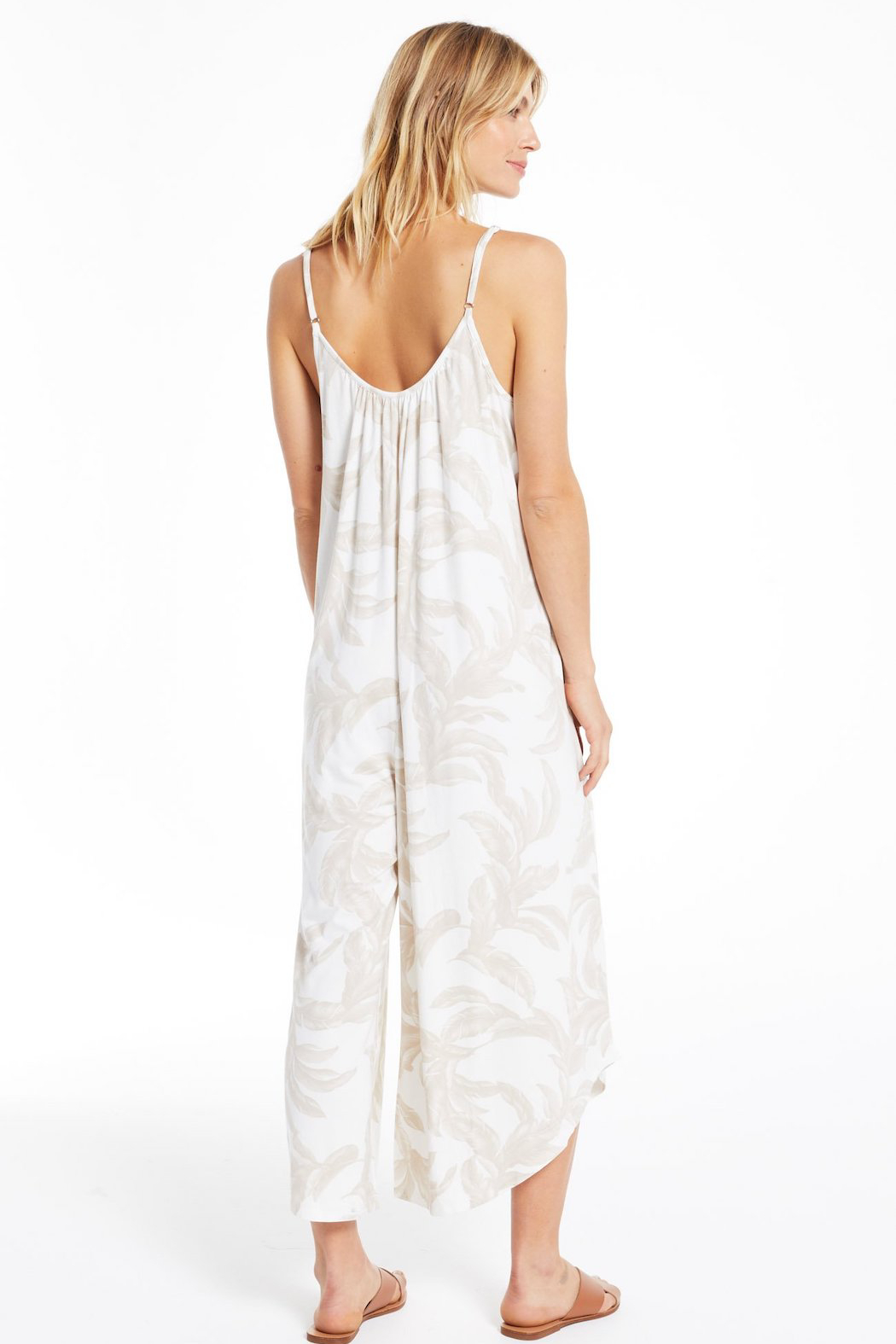 z supply Tira Palm Flared Jumpsuit - Side Cropped Image