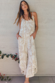 z supply Tira Palm Flared Jumpsuit - Front cropped