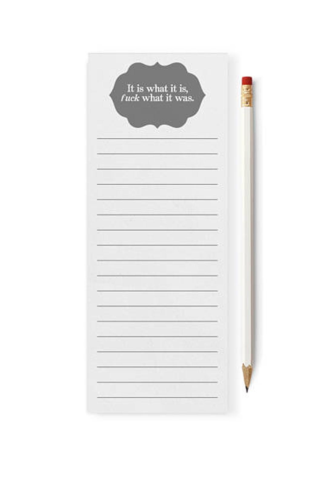 Tiramasu Paperie Funny Notepad - Front Cropped Image