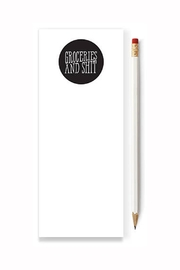 Tiramasu Paperie Grocery Note Pad - Front cropped