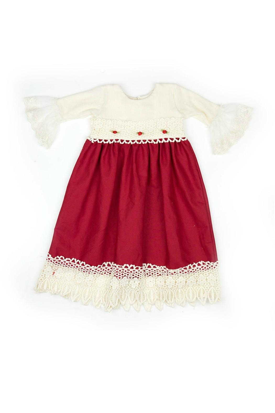 Haute Baby Tis-The-Season-Holiday-Layette-Gown - Front Full Image
