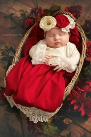 Haute Baby Tis-The-Season-Holiday-Layette-Gown - Front cropped