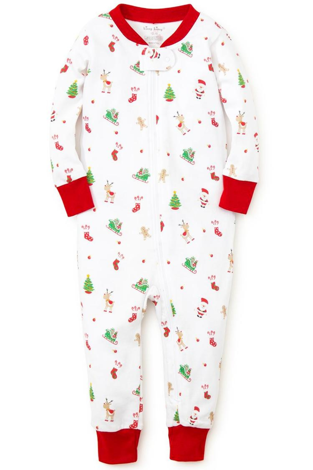 Kissy Kissy 'Tis-The-Season Zipper Pajama - Main Image