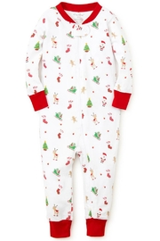 Kissy Kissy 'Tis-The-Season Zipper Pajama - Front cropped