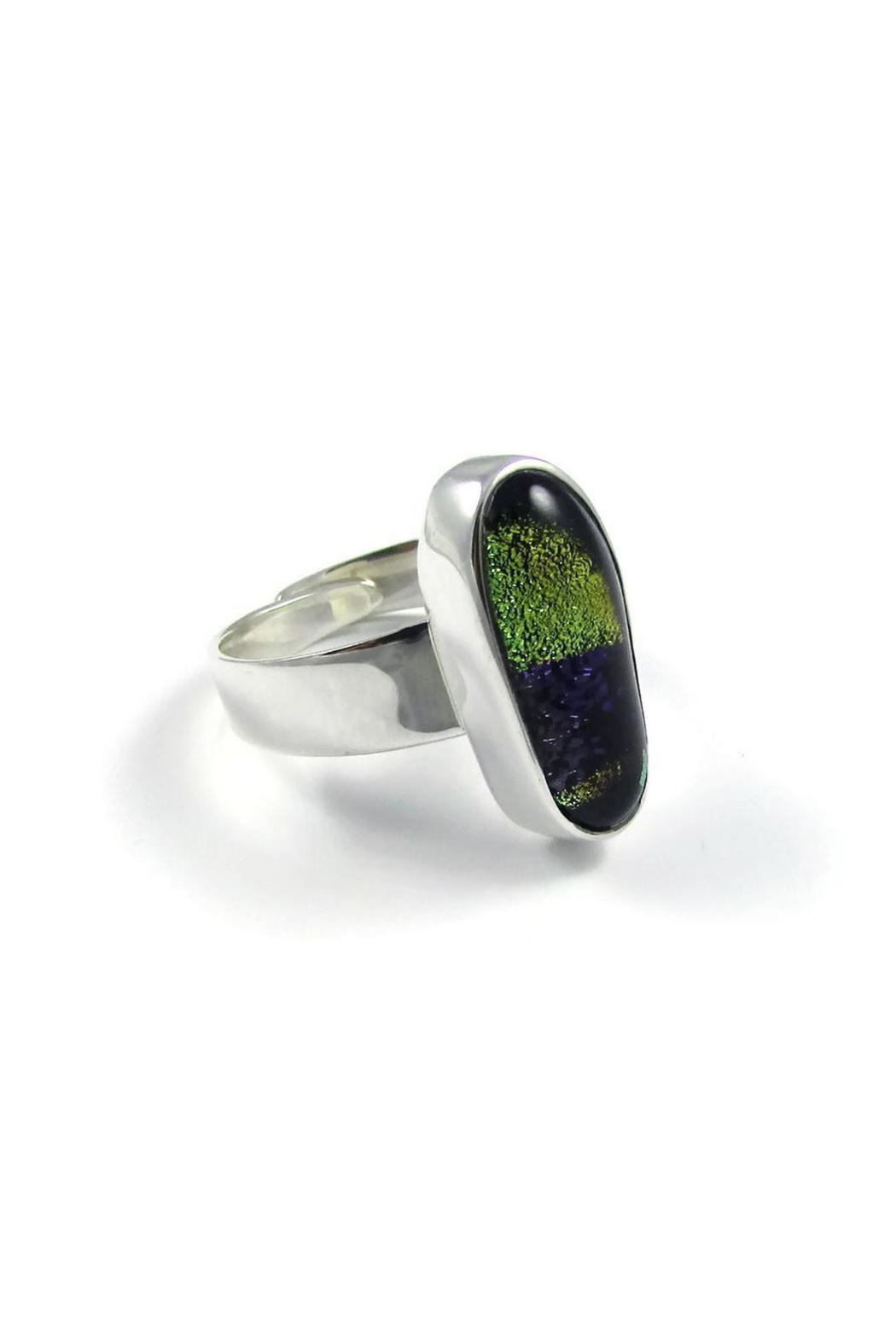 Tis tiK Dichroic Glass Ring - Front Full Image