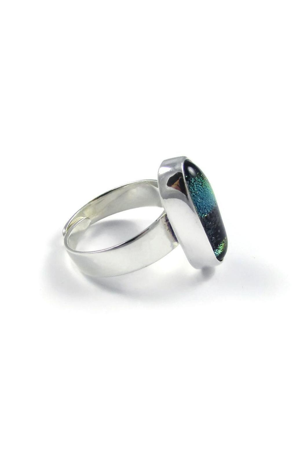 Tis tiK Dichroic Glass Ring - Side Cropped Image