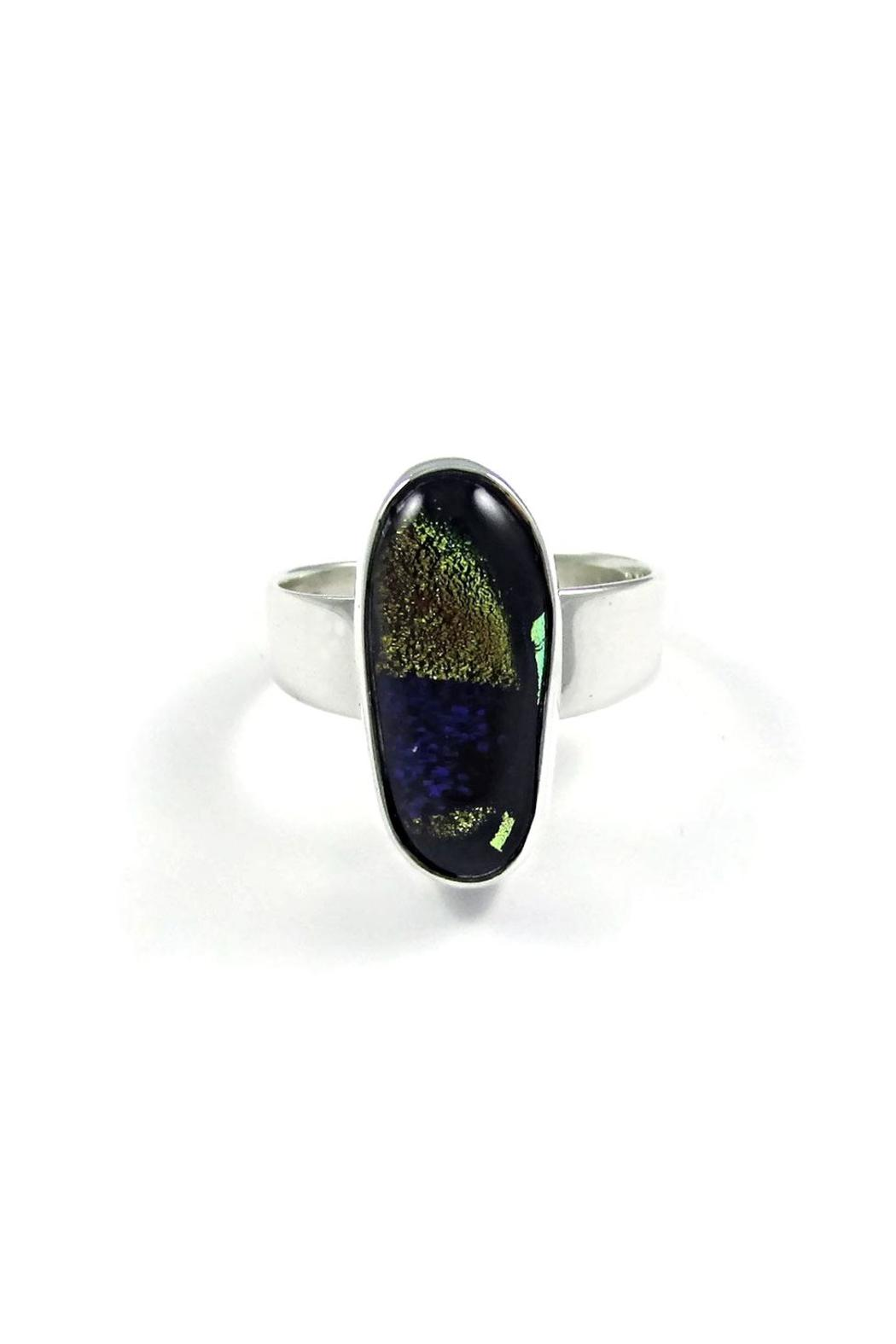 Tis tiK Dichroic Glass Ring - Main Image