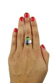 Tis tiK Dichroic Glass Ring - Side cropped