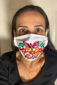 Tis tiK Embroidered Floral Facemask - Product List Image