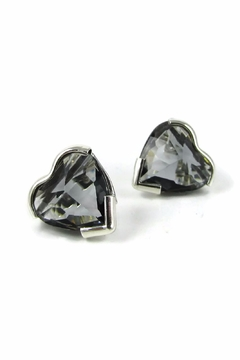 Shoptiques Product: Heart Crystal Studs