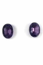 Tis tiK Oval Crystal Earrings - Product Mini Image