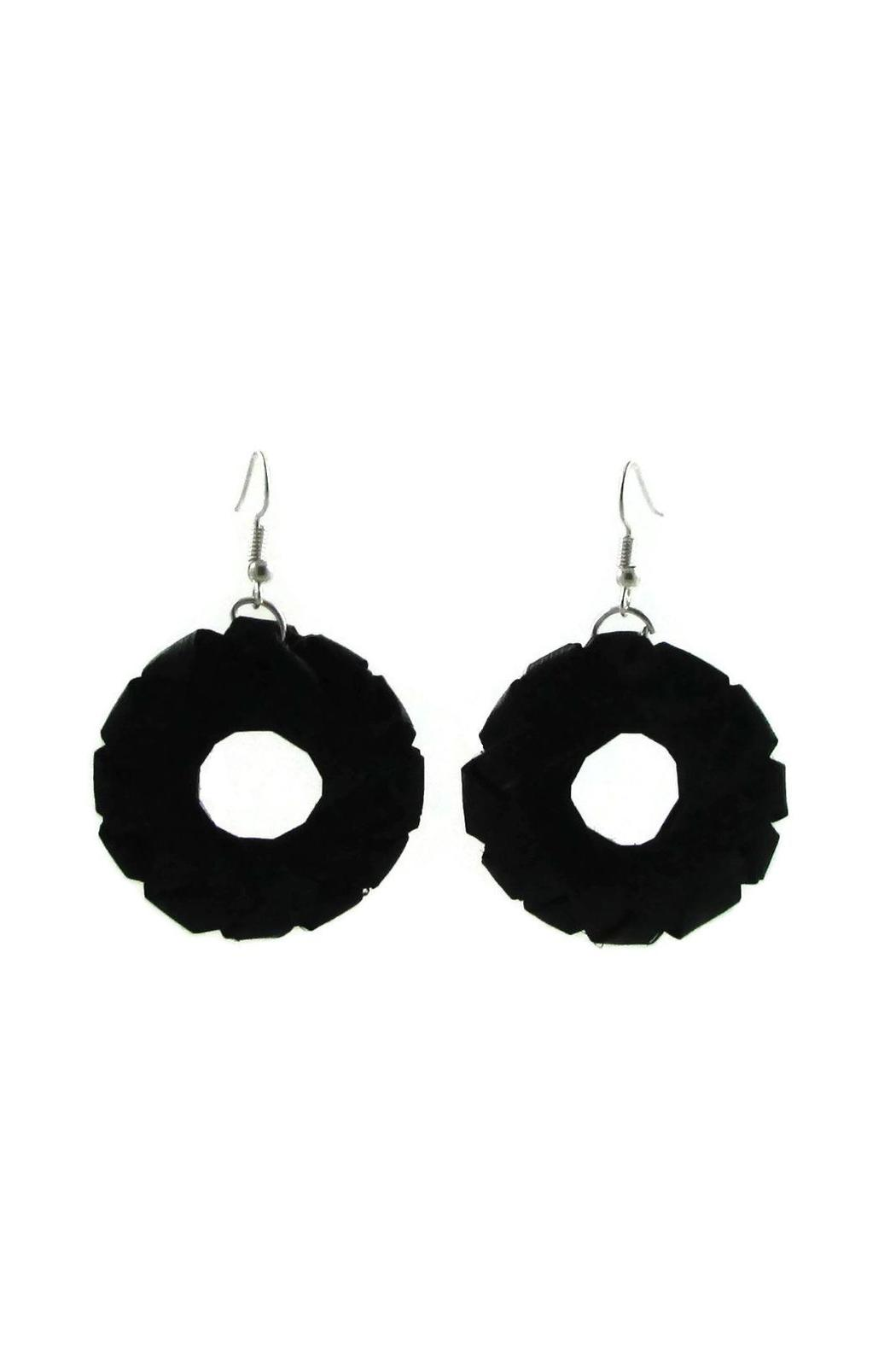 Tis tiK Palm Leaves Earrings - Front Cropped Image