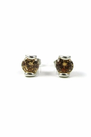 Tis tiK Round Cz Earrings - Front cropped