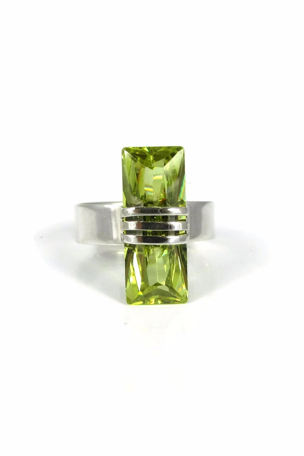 Tis tiK Small Baguette Ring - Front Cropped Image