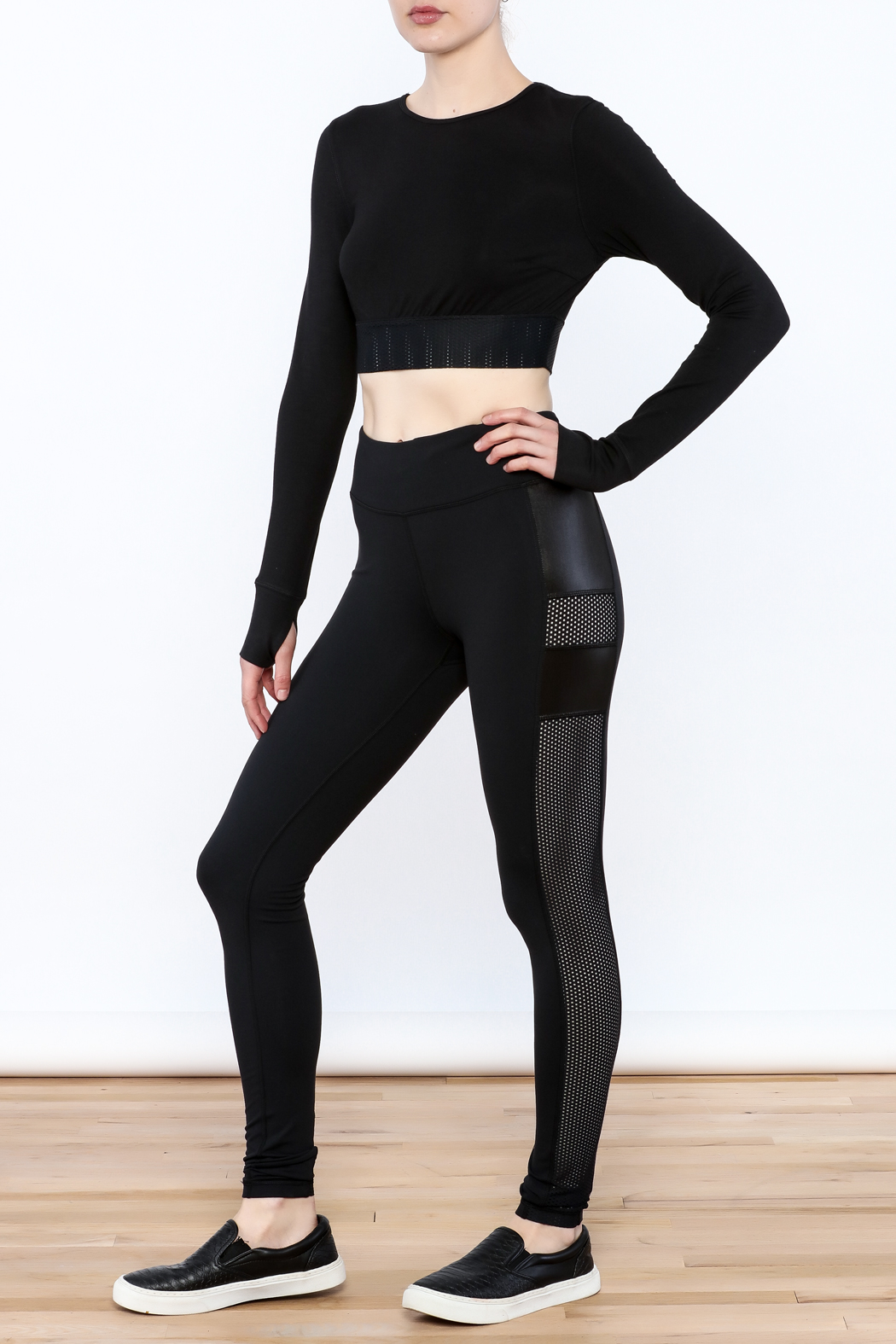 Titika Active Couture Dipsi Mesh Leggings - Side Cropped Image