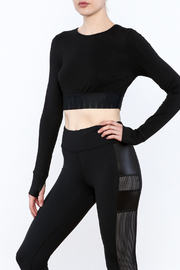 Titika Active Couture Emerson Long Sleeve Crop Top - Product Mini Image