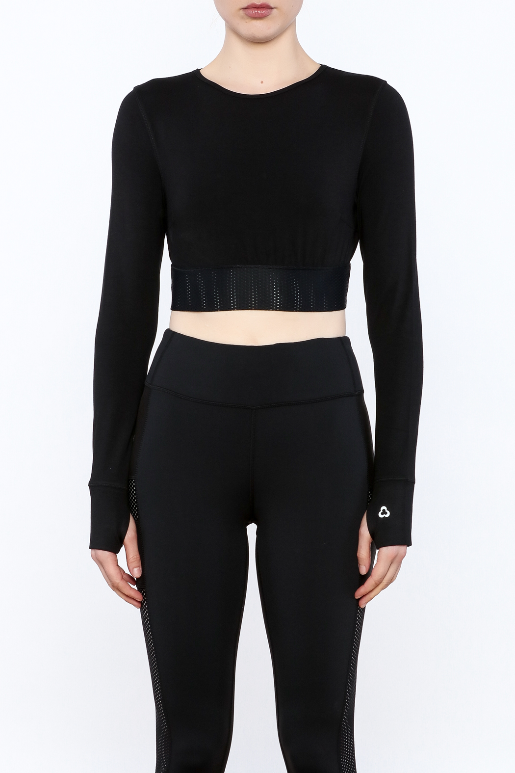 Titika Active Couture Emerson Long Sleeve Crop Top - Front Full Image