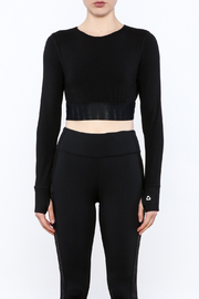 Titika Active Couture Emerson Long Sleeve Crop Top - Front full body