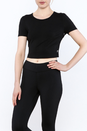 Titika Active Couture Raven Crop Top - Product Mini Image