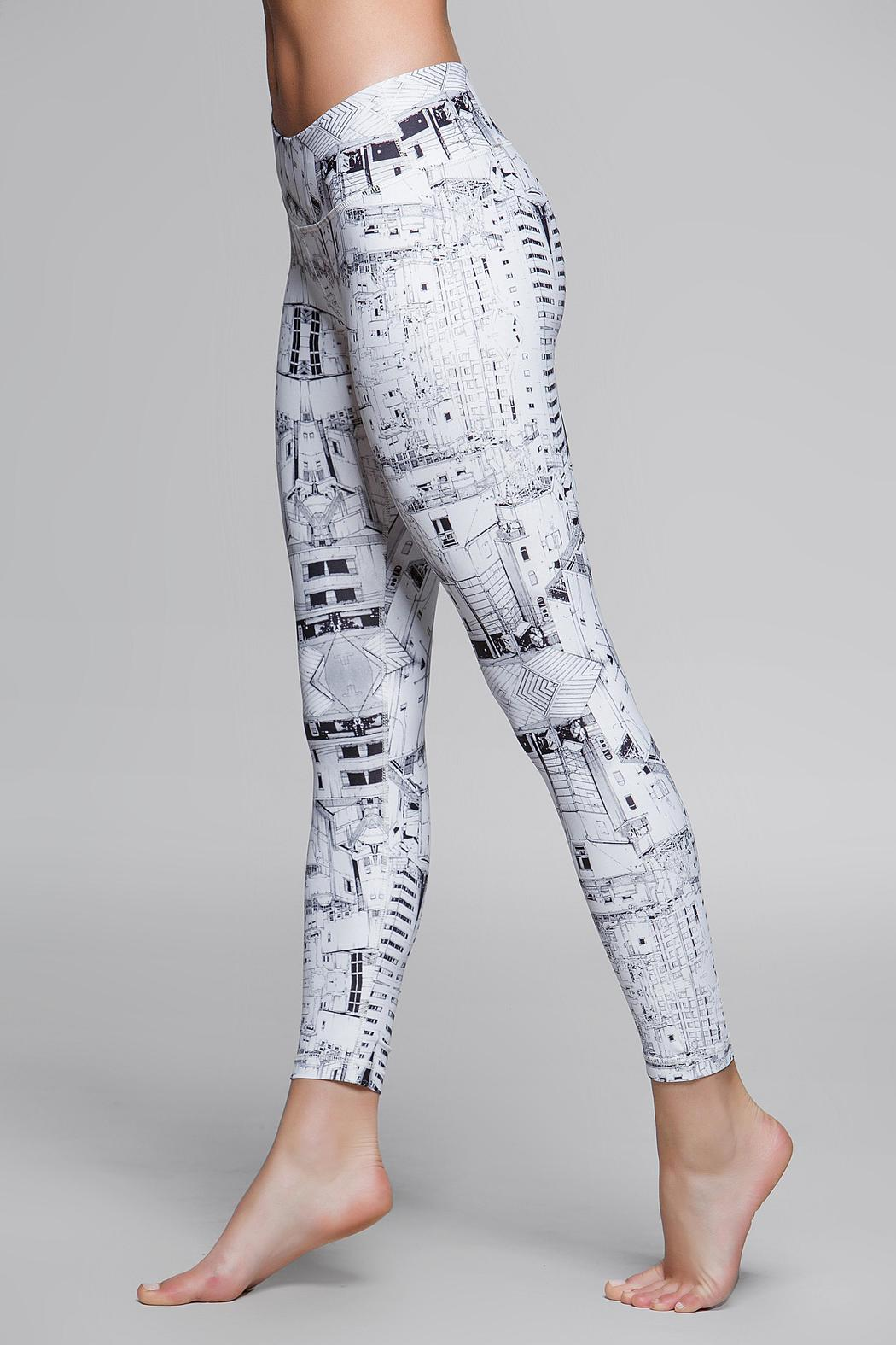 Titika Active Couture Graphic Cropped Legging - Front Full Image