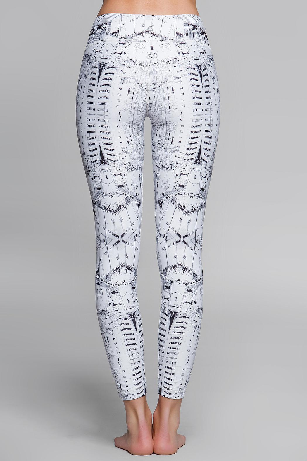 Titika Active Couture Graphic Cropped Legging - Side Cropped Image