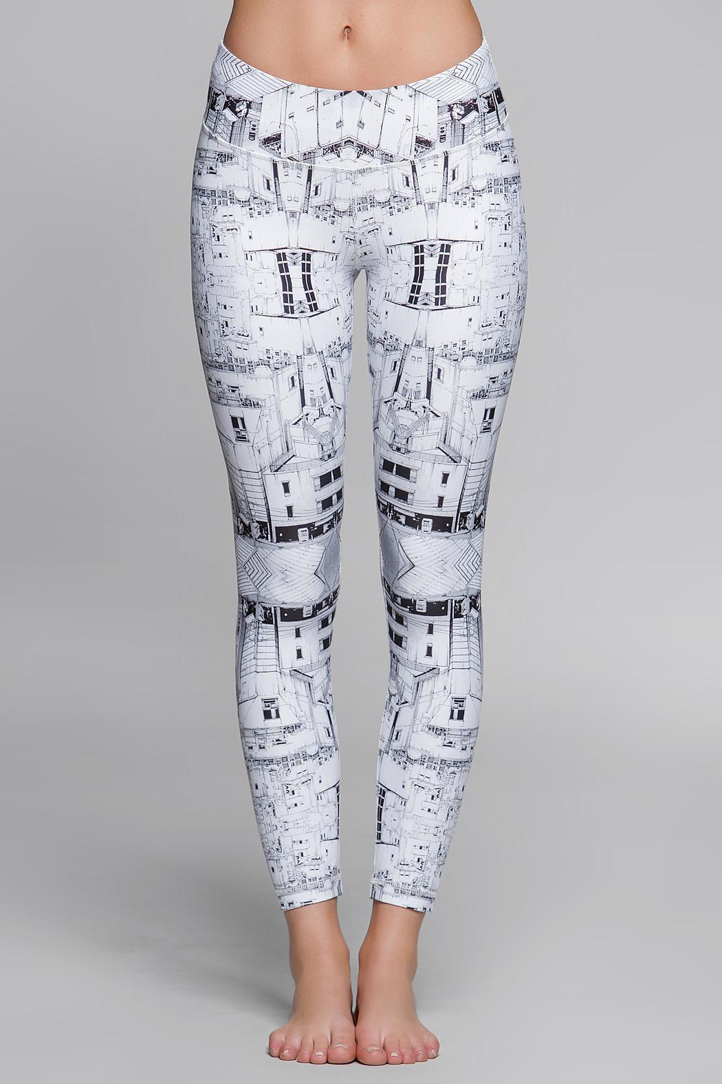 Titika Active Couture Graphic Cropped Legging - Back Cropped Image