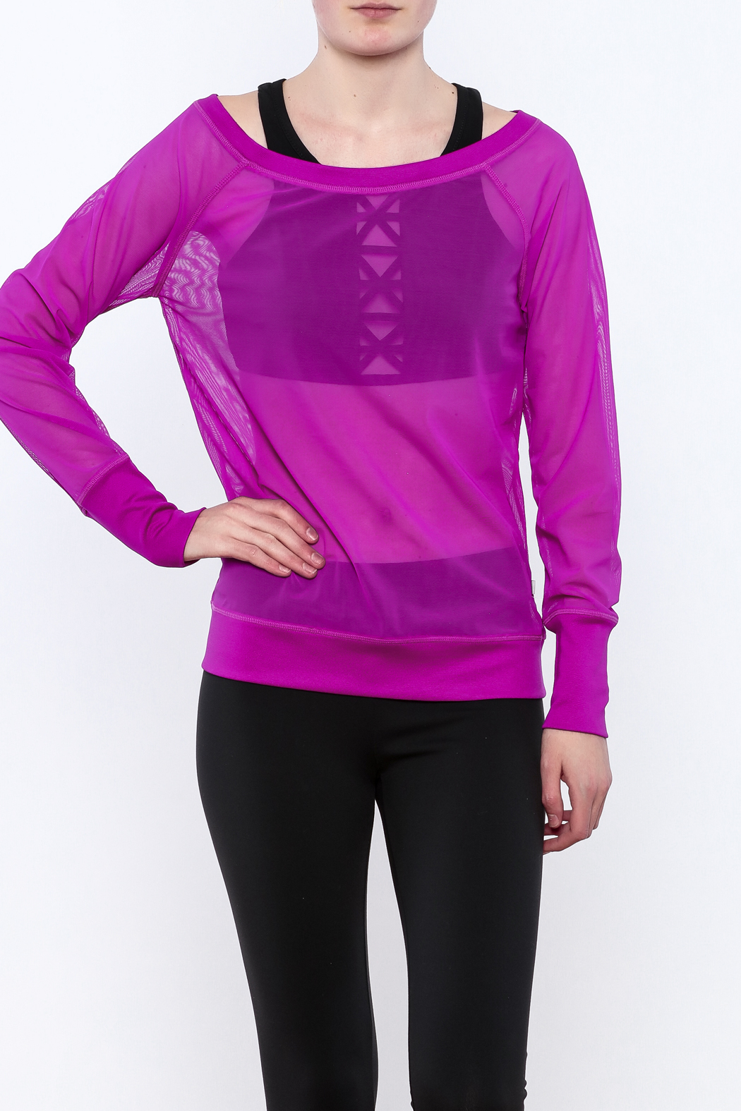TLF Apparel Sheer Long Sleeve - Front Cropped Image