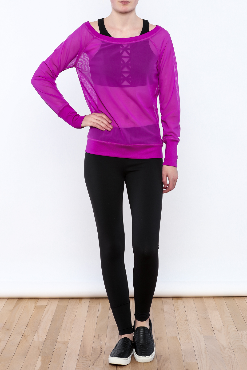 TLF Apparel Sheer Long Sleeve - Front Full Image