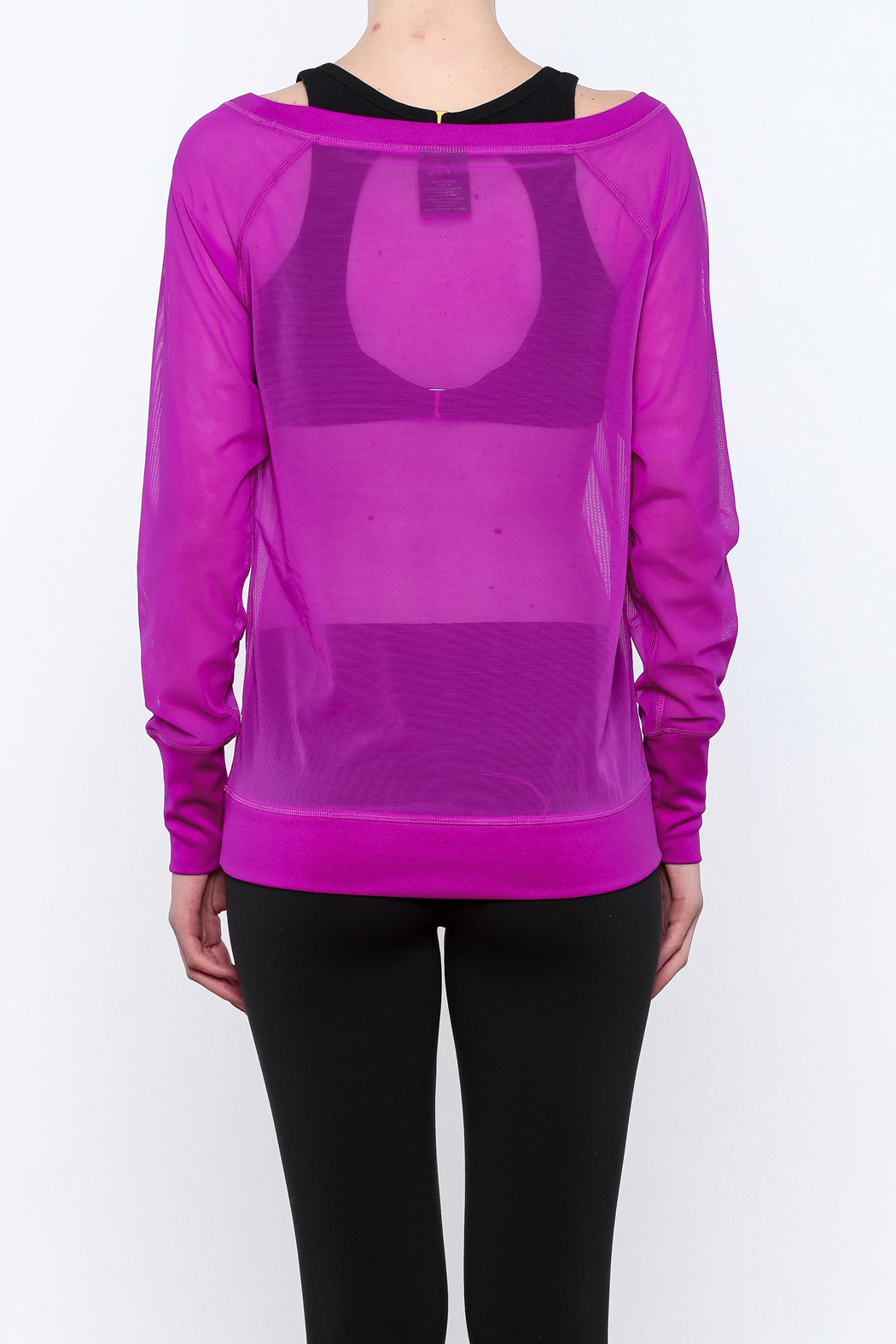 TLF Apparel Sheer Long Sleeve - Back Cropped Image