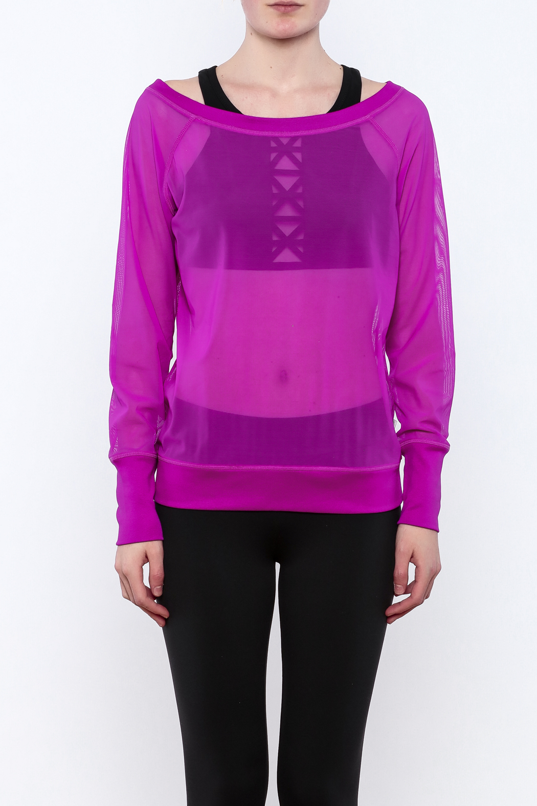 TLF Apparel Sheer Long Sleeve - Side Cropped Image