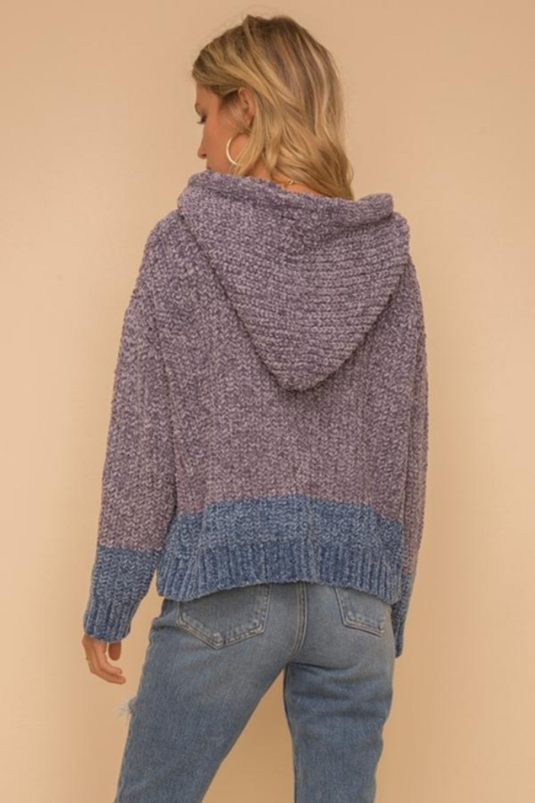 Hem and Thread TN  Chenille Hoodie - Front Full Image