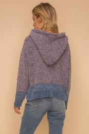Hem and Thread TN  Chenille Hoodie - Front full body