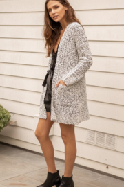 Hem and Thread TN  Two Tone Textured Cardigan - Front cropped