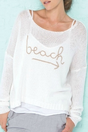 Wooden Ships To Beach Sweater - Product Mini Image