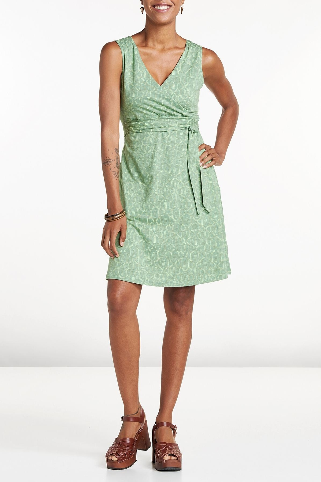 Toad & Co. Sleeveless Wrap Dress - Front Cropped Image