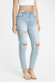 Eunina Tobi Super High Rise Mom Jeans - Product Mini Image