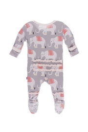 Kickee Pants Toddler Elephant Ruffle-Footie - Front full body
