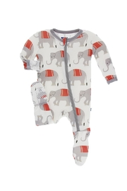 Kickee Pants Toddler Indian-Elephant Footie - Front cropped