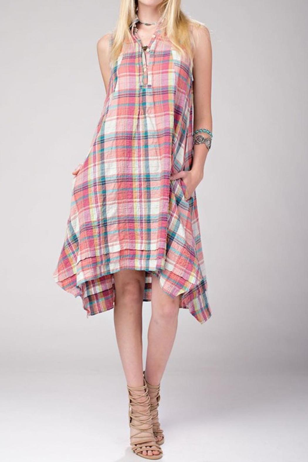 Toffee Mocha Pink Plaid Dress from New York by Chandeliers ...