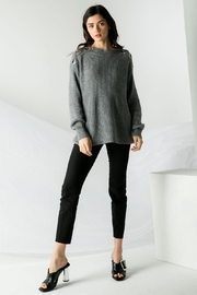 THML Clothing Toggle Sweater Grey - Product Mini Image